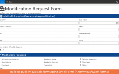 Building Anonymous Forms using Sintel Forms