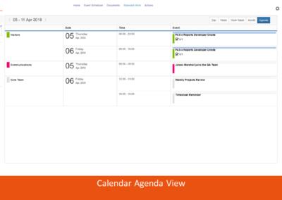 Calendar Agenda View