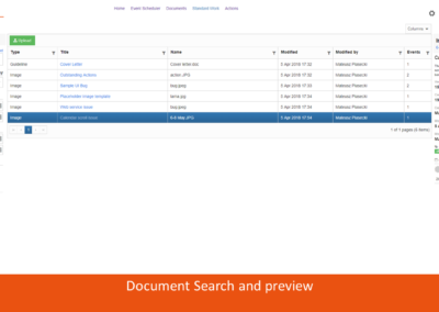 Document Search and preview
