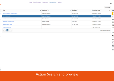 Action Search and preview