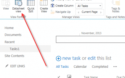 Datasheet View instead of Quick edit in SharePoint 2013/2016